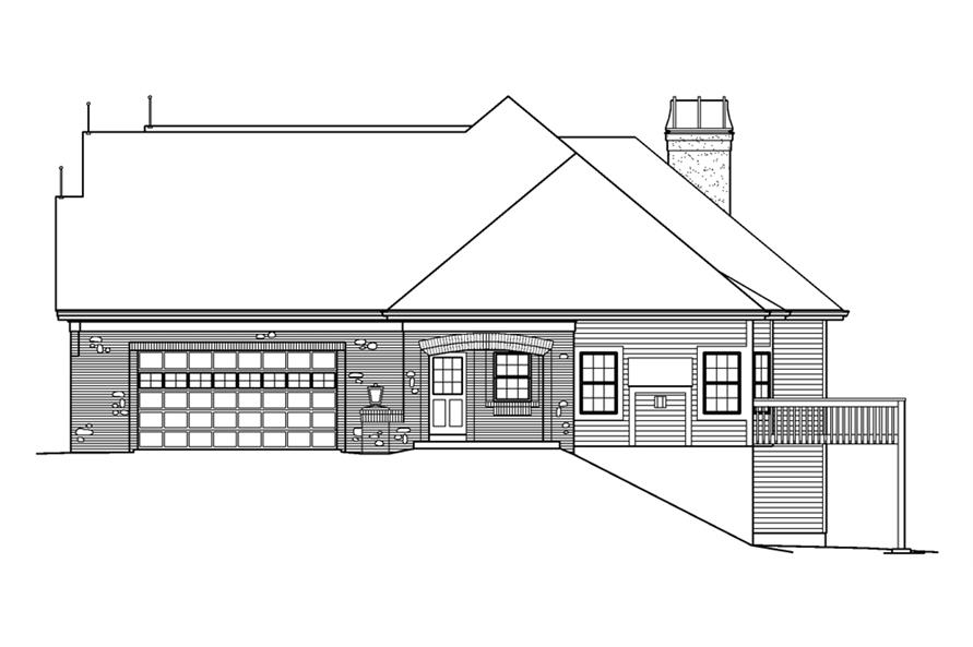 138-1239: Home Plan Right Elevation
