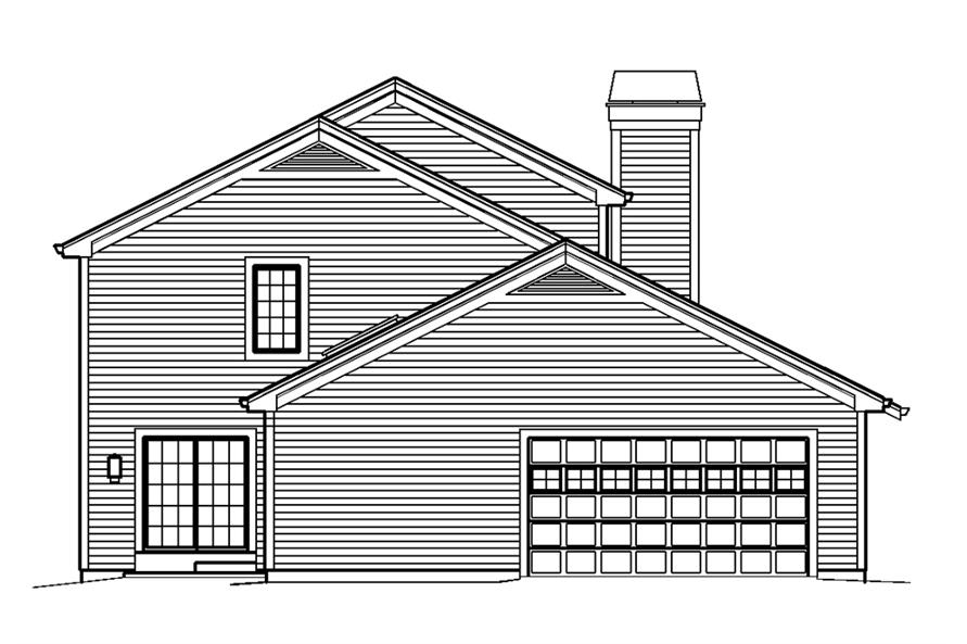 138-1240: Home Plan Left Elevation