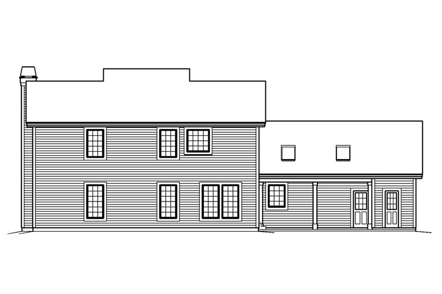 138-1240: Home Plan Rear Elevation