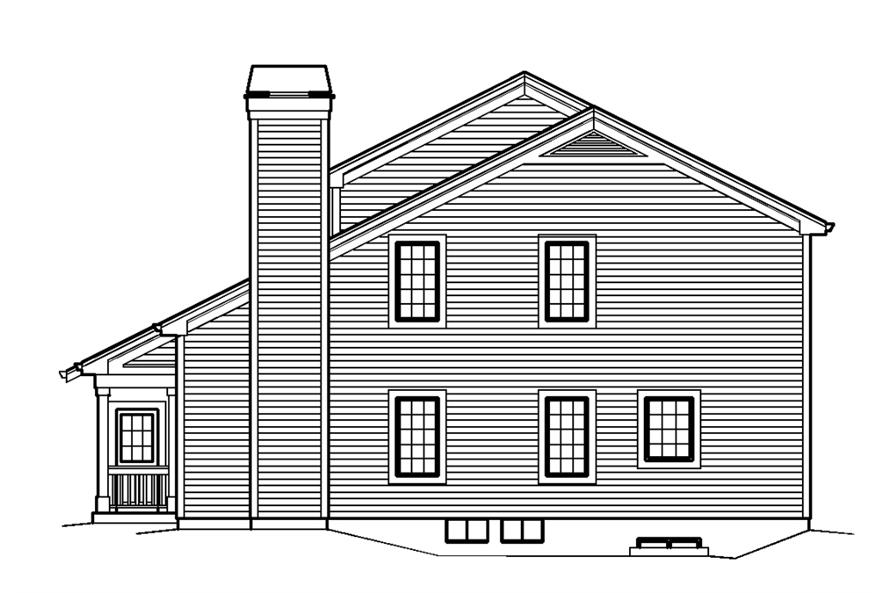 138-1240: Home Plan Right Elevation