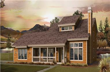 4-Bedroom, 2873 Sq Ft Country House Plan - 138-1240 - Front Exterior