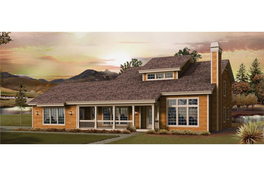 Front elevation of Country home (ThePlanCollection: House Plan #138-1240)