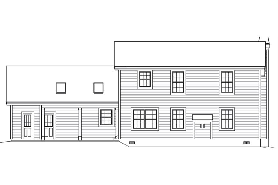 138-1241: Home Plan Rear Elevation