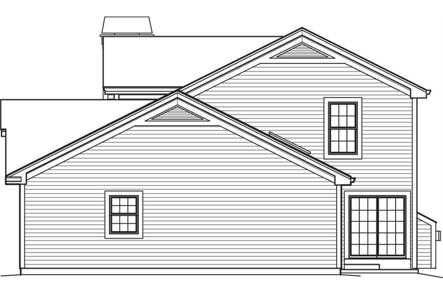 138-1241: Home Plan Right Elevation