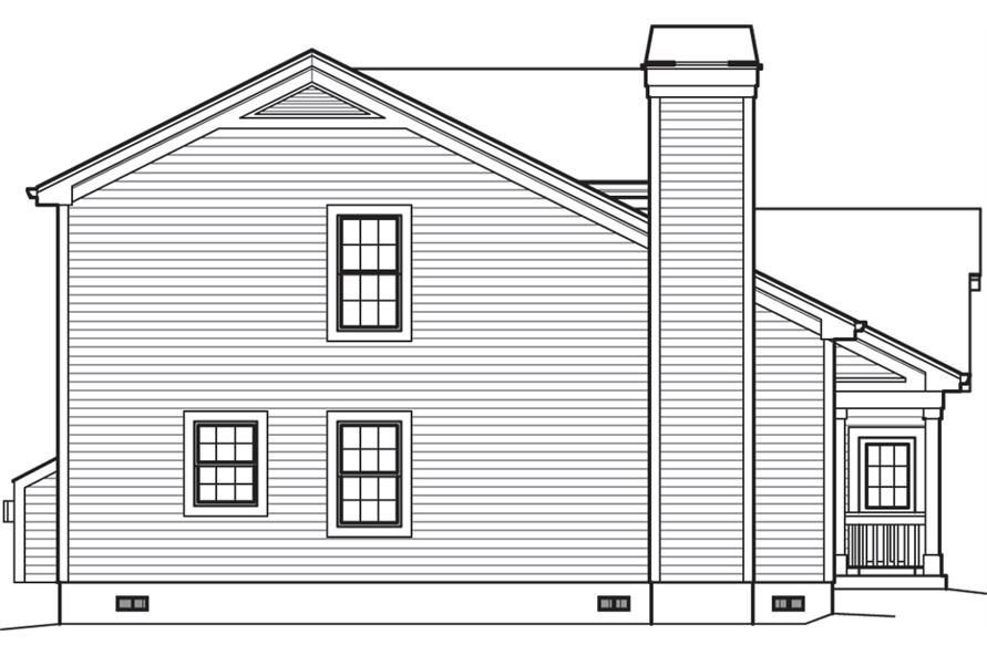 138-1241: Home Plan Left Elevation