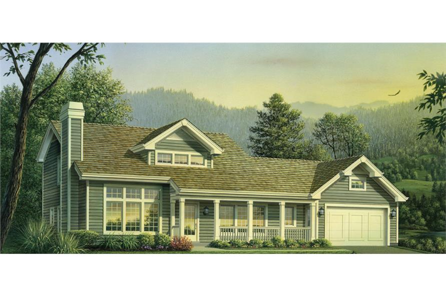 Front elevation of Country home (ThePlanCollection: House Plan #138-1241)