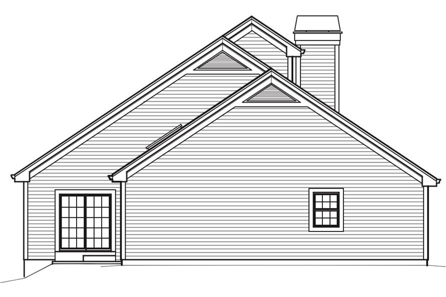 138-1242: Home Plan Left Elevation