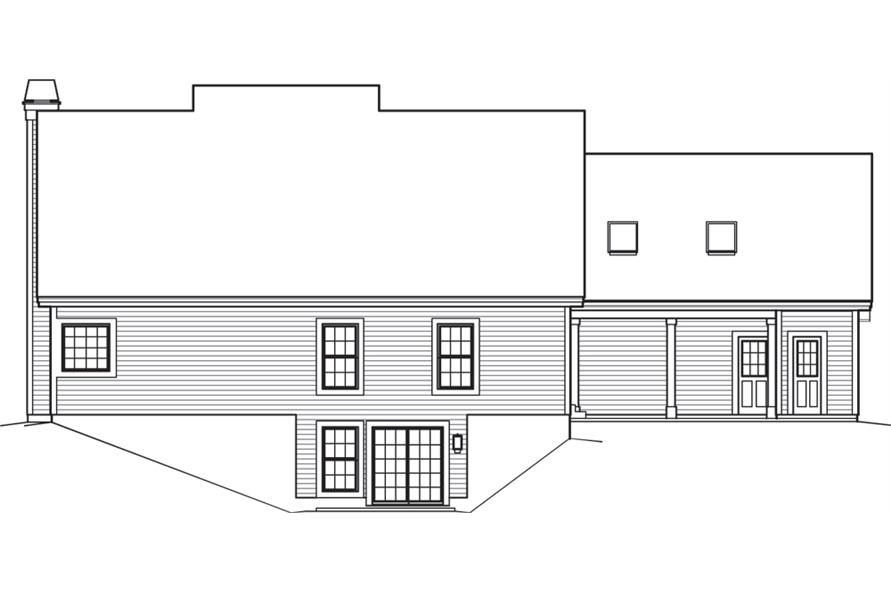 138-1242: Home Plan Rear Elevation