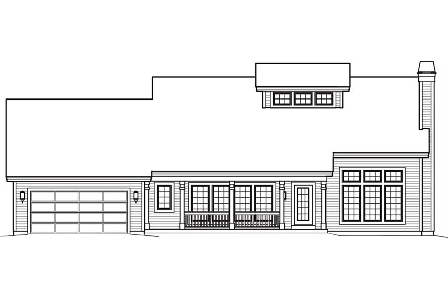 138-1242: Home Plan Front Elevation
