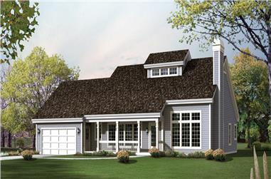 3-Bedroom, 1942 Sq Ft Traditional Home Plan - 138-1242 - Main Exterior