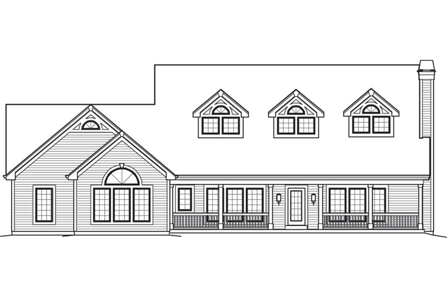 138-1243: Home Plan Front Elevation