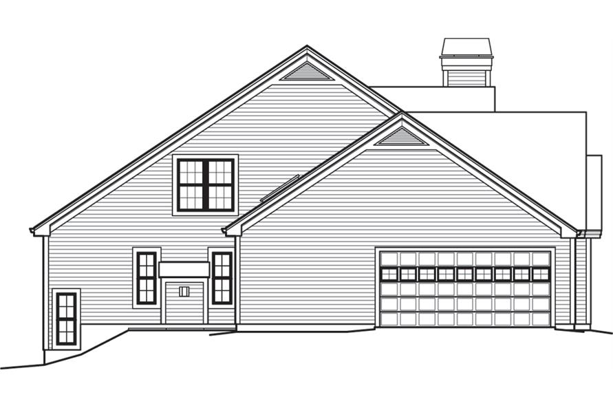 138-1243: Home Plan Left Elevation