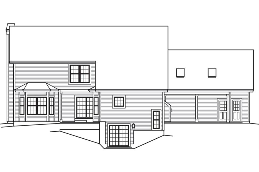 138-1243: Home Plan Rear Elevation