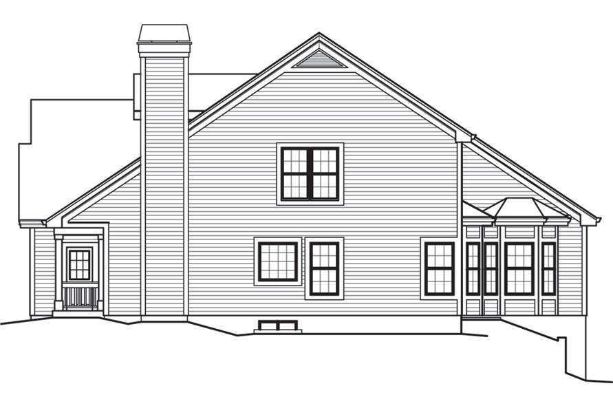 138-1243: Home Plan Right Elevation