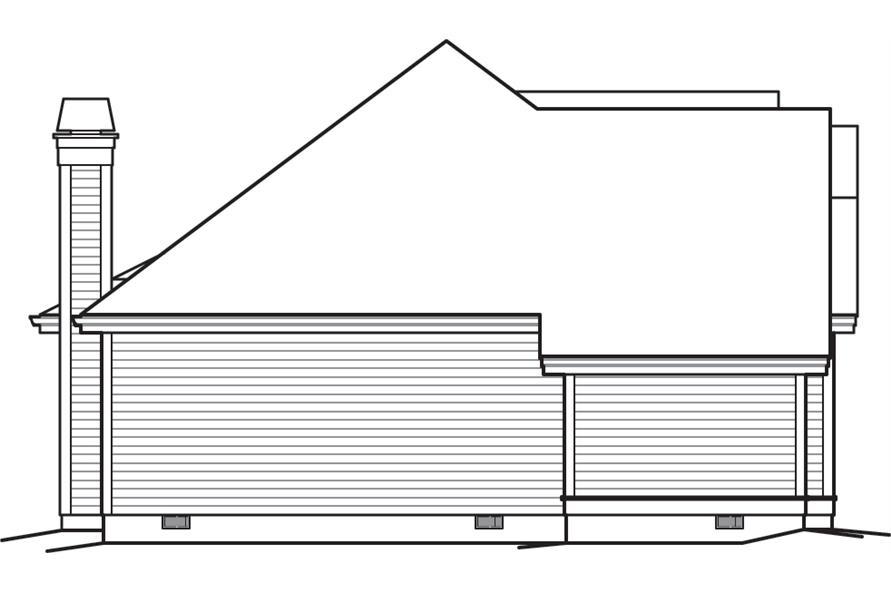 138-1244: Home Plan Left Elevation