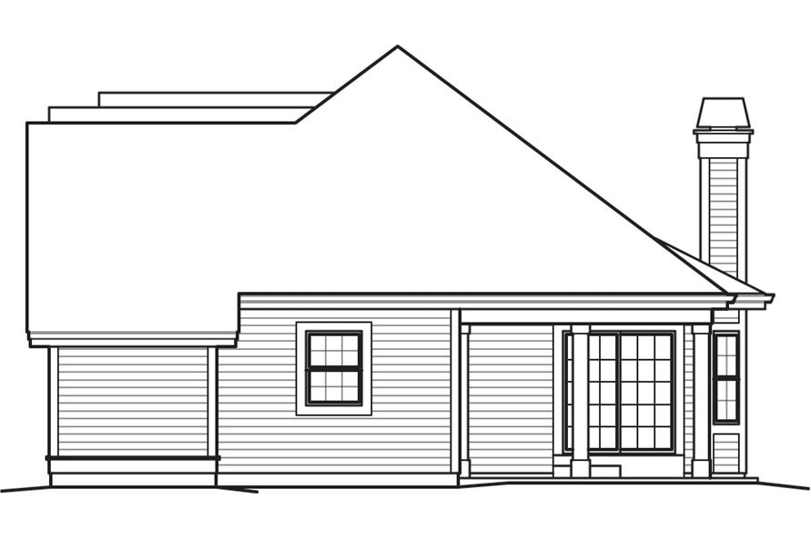 138-1244: Home Plan Right Elevation