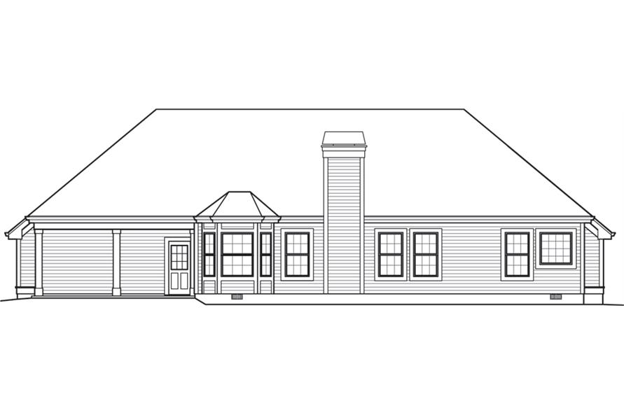 138-1244: Home Plan Rear Elevation