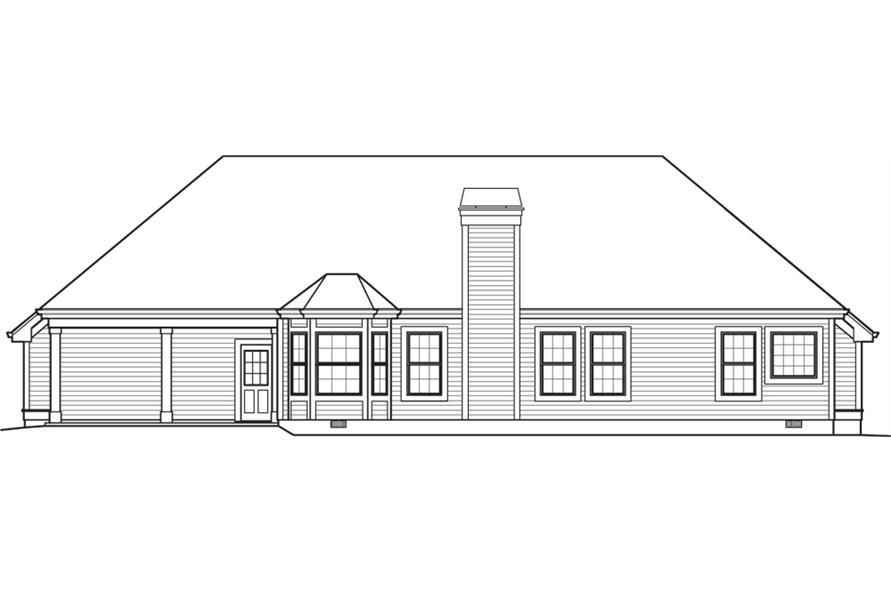 138-1244: Home Plan Rear Elevation