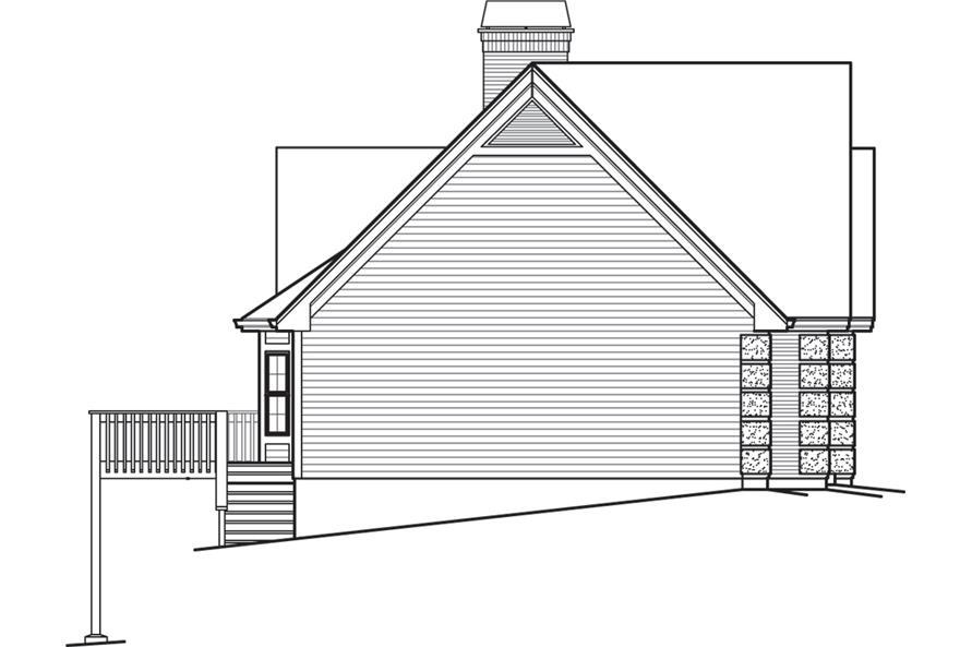 138-1245: Home Plan Left Elevation