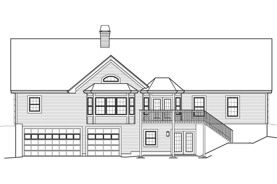 138-1245: Home Plan Rear Elevation