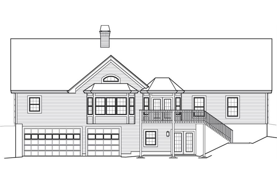 138-1245: Home Plan Rear Elevation