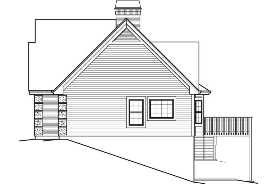 138-1245: Home Plan Right Elevation