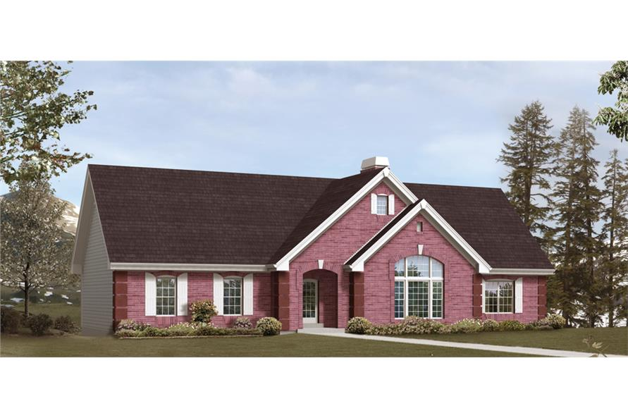 Front elevation of Traditional home (ThePlanCollection: House Plan #138-1245)