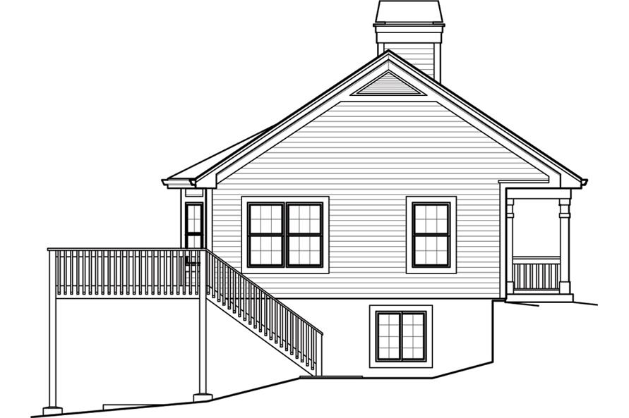 138-1246: Home Plan Left Elevation