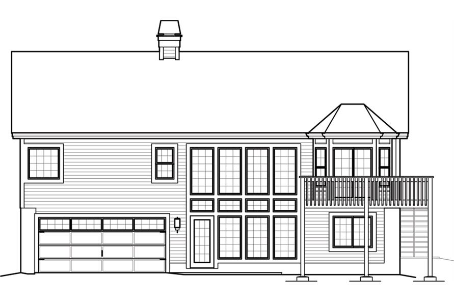 138-1246: Home Plan Rear Elevation