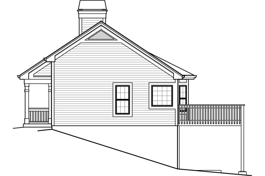 138-1246: Home Plan Right Elevation
