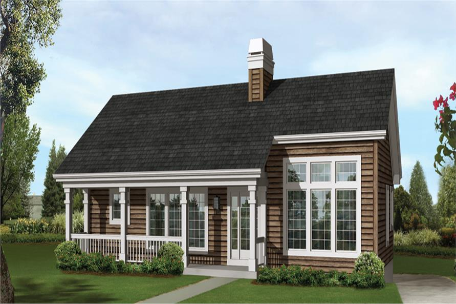 Front elevation of Country home (ThePlanCollection: House Plan #138-1246)