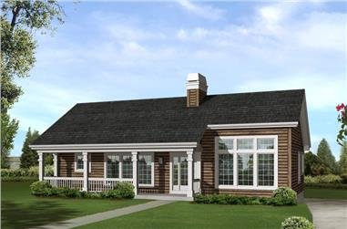 3-Bedroom, 1680 Sq Ft Country House Plan - 138-1246 - Front Exterior