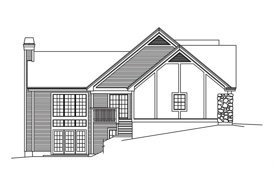 138-1247: Home Plan Left Elevation