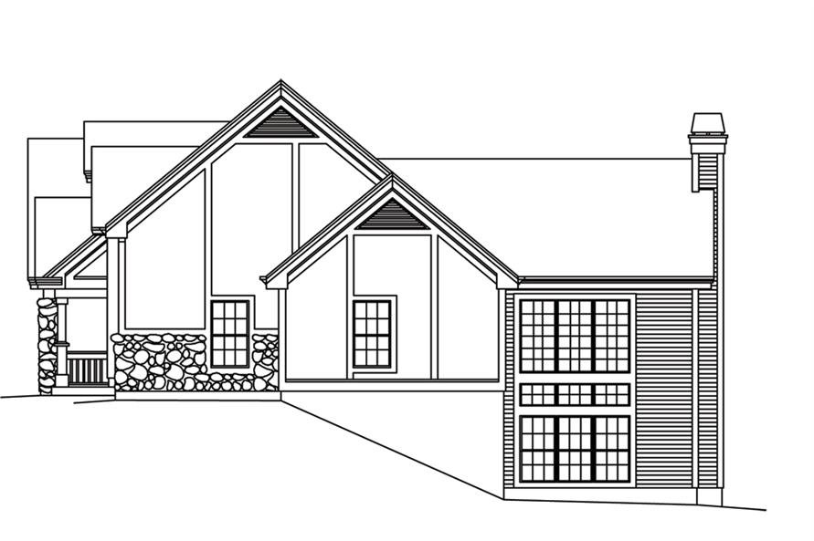 138-1247: Home Plan Right Elevation