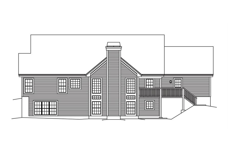 138-1247: Home Plan Rear Elevation