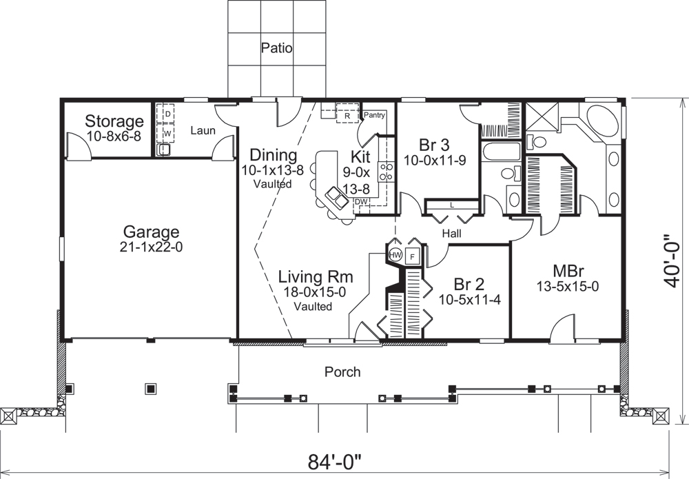 ranch house plan  138