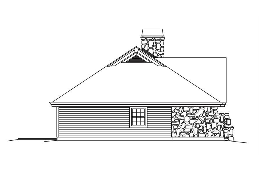 138-1248: Home Plan Left Elevation