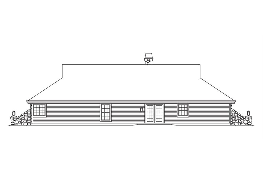 138-1248: Home Plan Rear Elevation