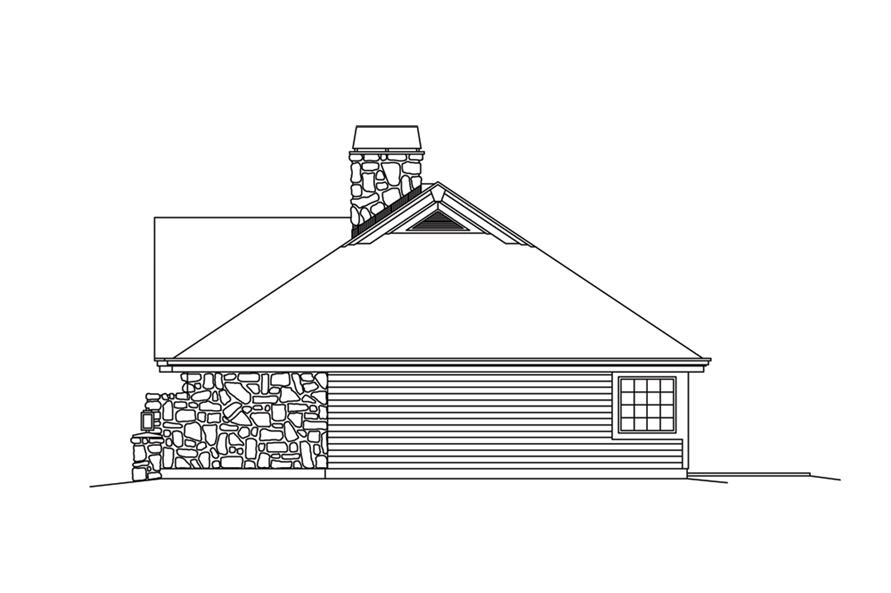 138-1248: Home Plan Right Elevation