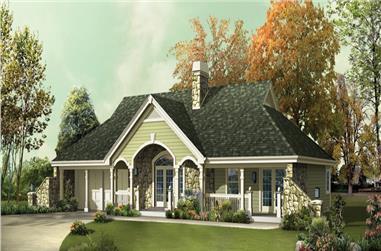3-Bedroom, 1510 Sq Ft Ranch Home Plan - 138-1248 - Main Exterior