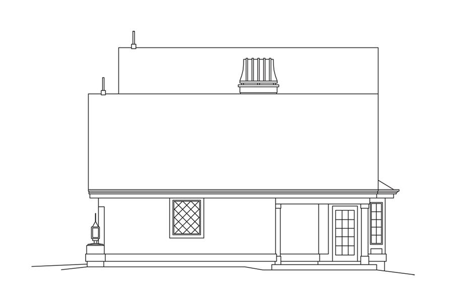 138-1249: Home Plan Right Elevation