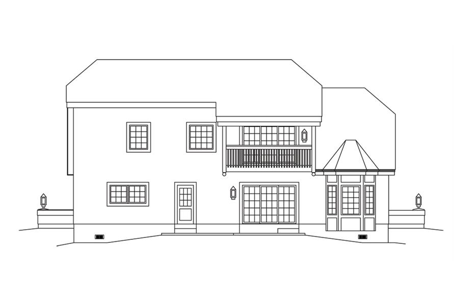 138-1250: Home Plan Rear Elevation