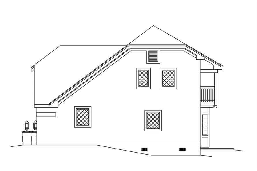 138-1250: Home Plan Right Elevation