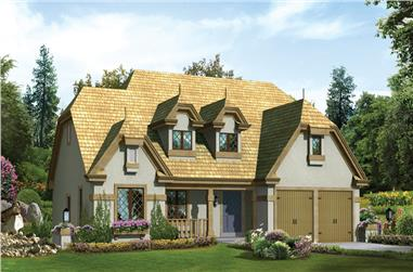 3-Bedroom, 1828 Sq Ft Tudor House - Plan #138-1250 - Front Exterior