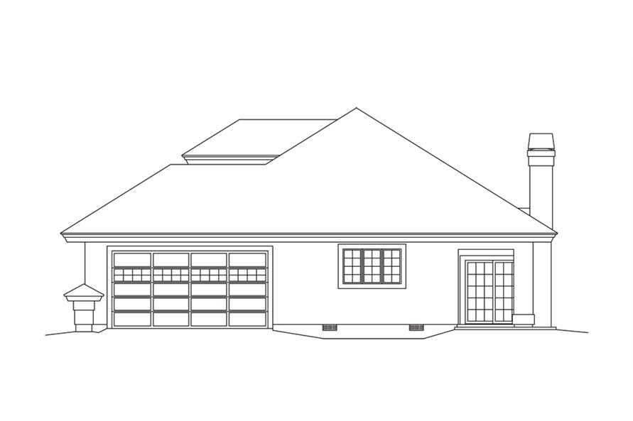 Home Plan Right Elevation of this 2-Bedroom,1939 Sq Ft Plan -138-1251