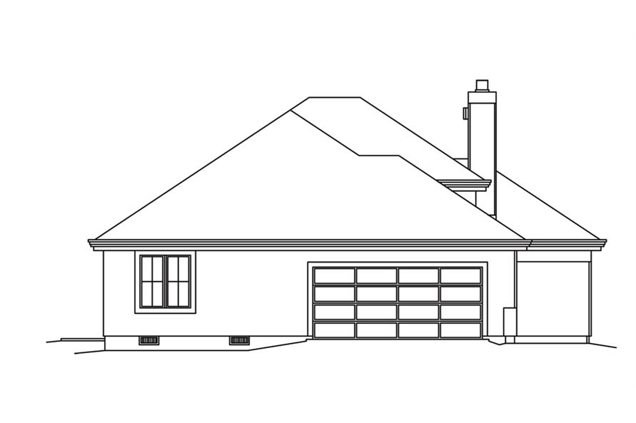 138-1252: Home Plan Left Elevation