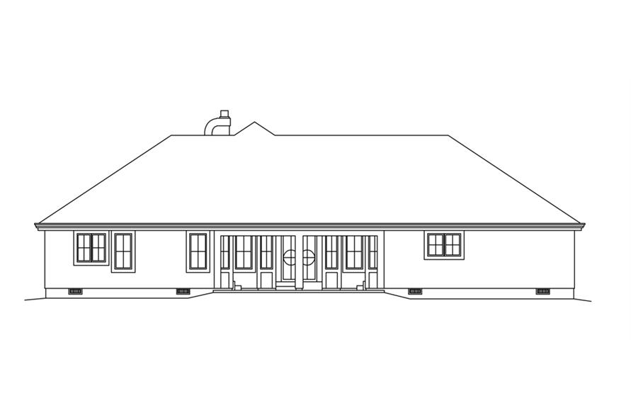 138-1252: Home Plan Rear Elevation