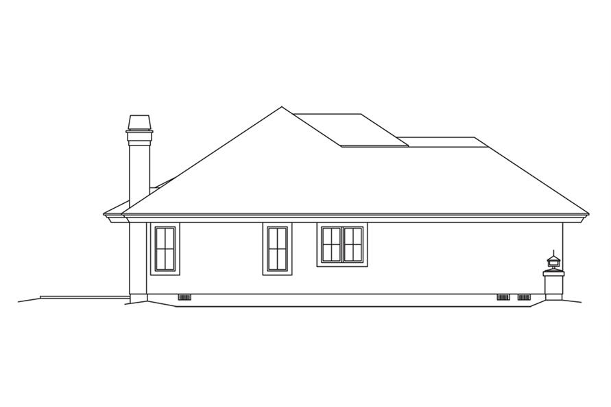 138-1253: Home Plan Left Elevation