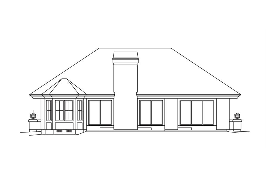 138-1253: Home Plan Rear Elevation