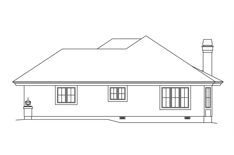 138-1253: Home Plan Right Elevation